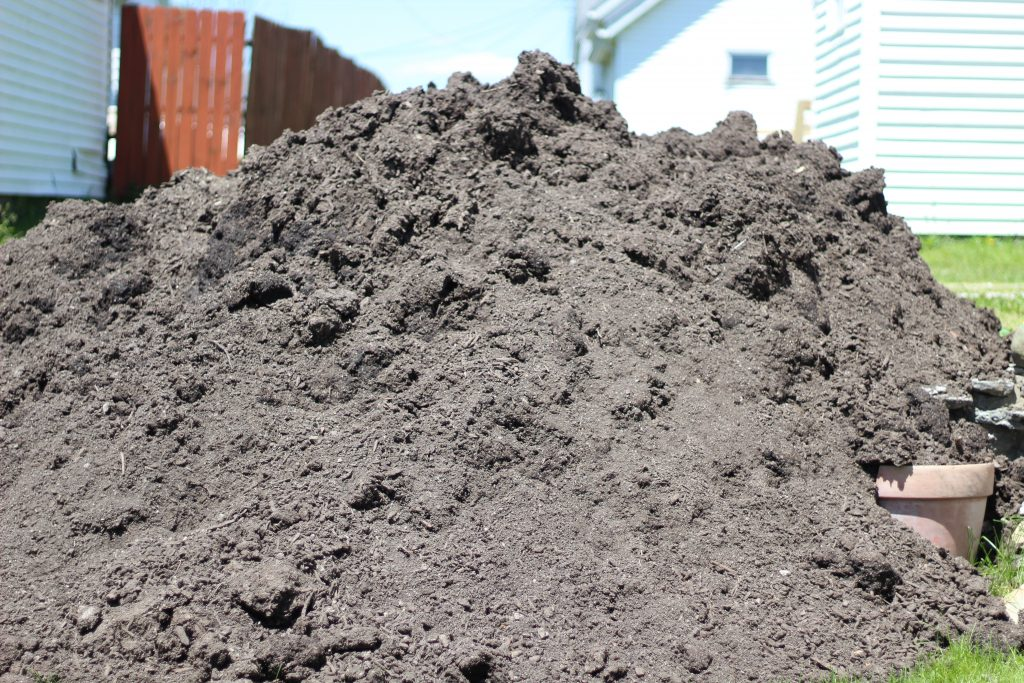 large pile of dirt