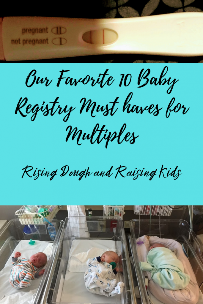 My top 10 baby registry must haves for multiples graphic