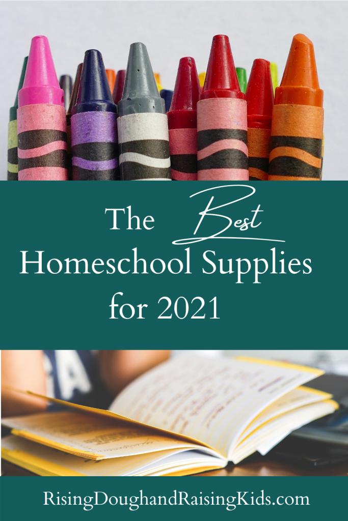 the best homeschool supplies graphic