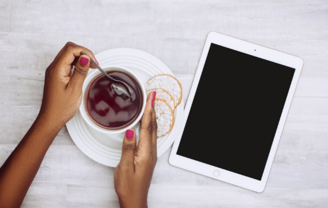 Tablet and tea